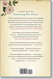 Romancing Miss Bronte back cover